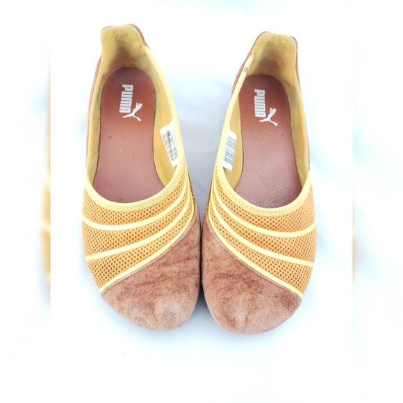 Puma Flats Brown & Yellow 5